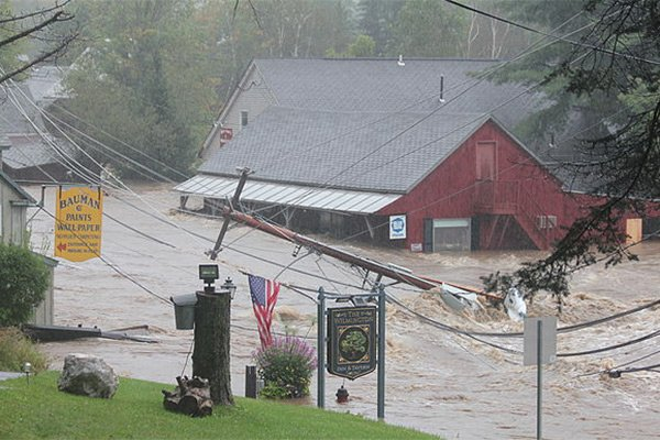 Hurricane Irene photos at Wilmington Inn in VT