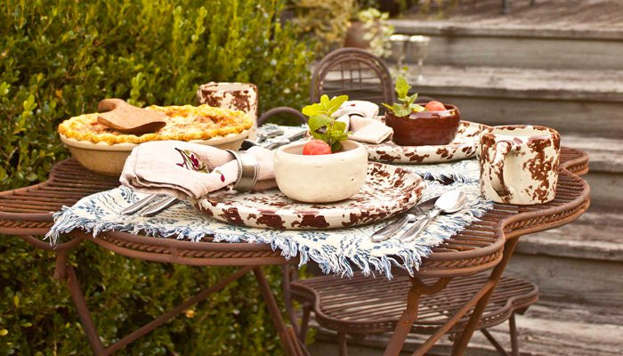 Breakfast fruit quiche at 1840 Tucker House Bed and Breakfast in Louisville, Kentucky