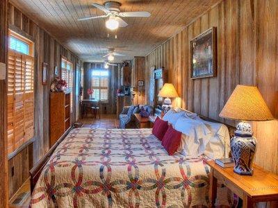Porch Room at Historic Kuebler Waldrip Haus in New Braunfels, TX