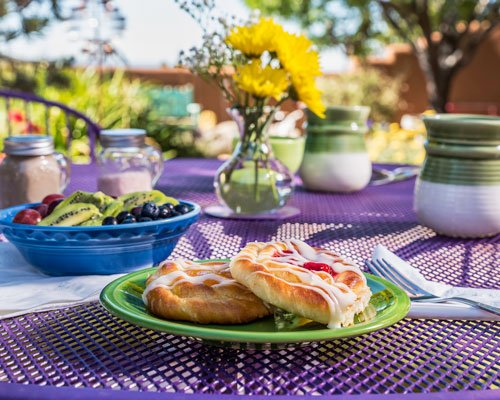 Breakfast at Bobcat Inn in Santa Fe, New Mexico