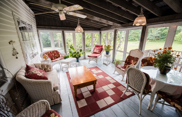 A sunlit sitting room
