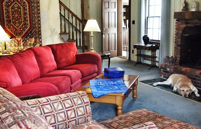 Couches in a sitting area