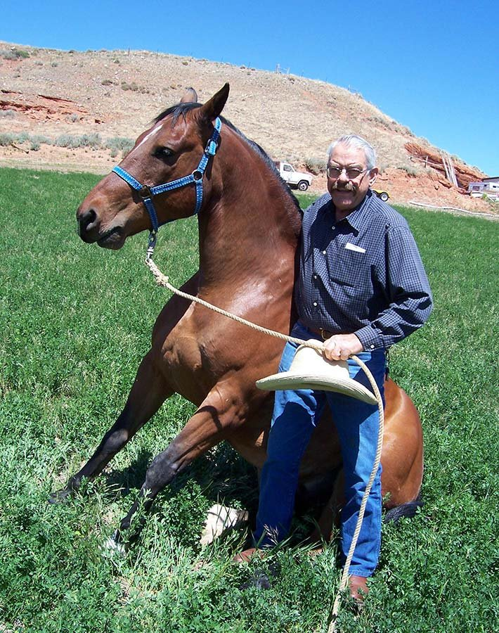 Jerry with Stormy at K3: A Wyoming Guest Ranch