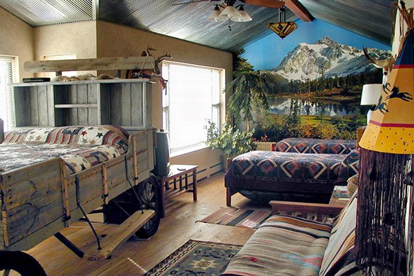 Guest Room at K3 Guest Ranch in Cody, Wyoming