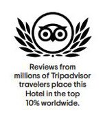 TripAdvisor Award Top ten percent World Wide