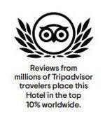 TripAdvisor Award Top ten percent World Wide
