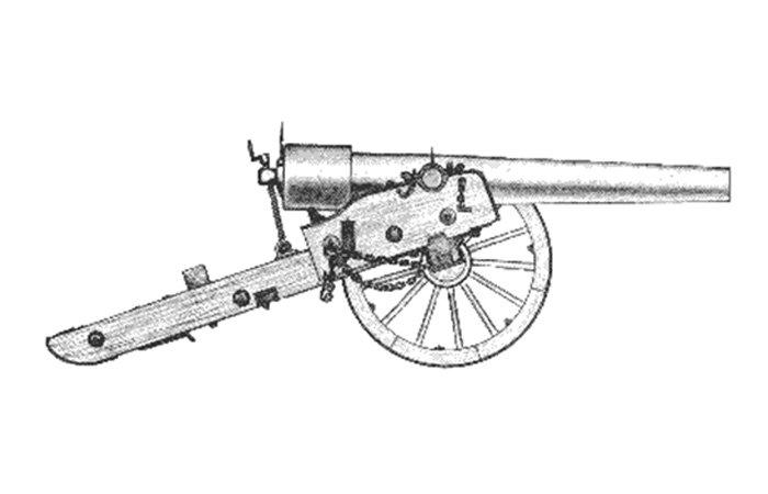 California Historical Artillery Society history cannon drawing