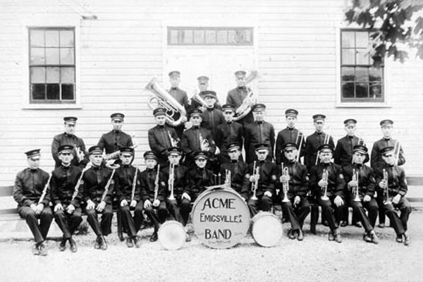 ACME Emigsville Band outside the Mansion