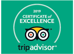 Certificate of exelence 2019 from TripAdvisor