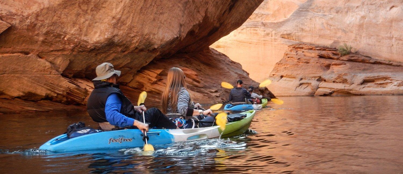 Kayak Antelope Canyon on Lake Powell