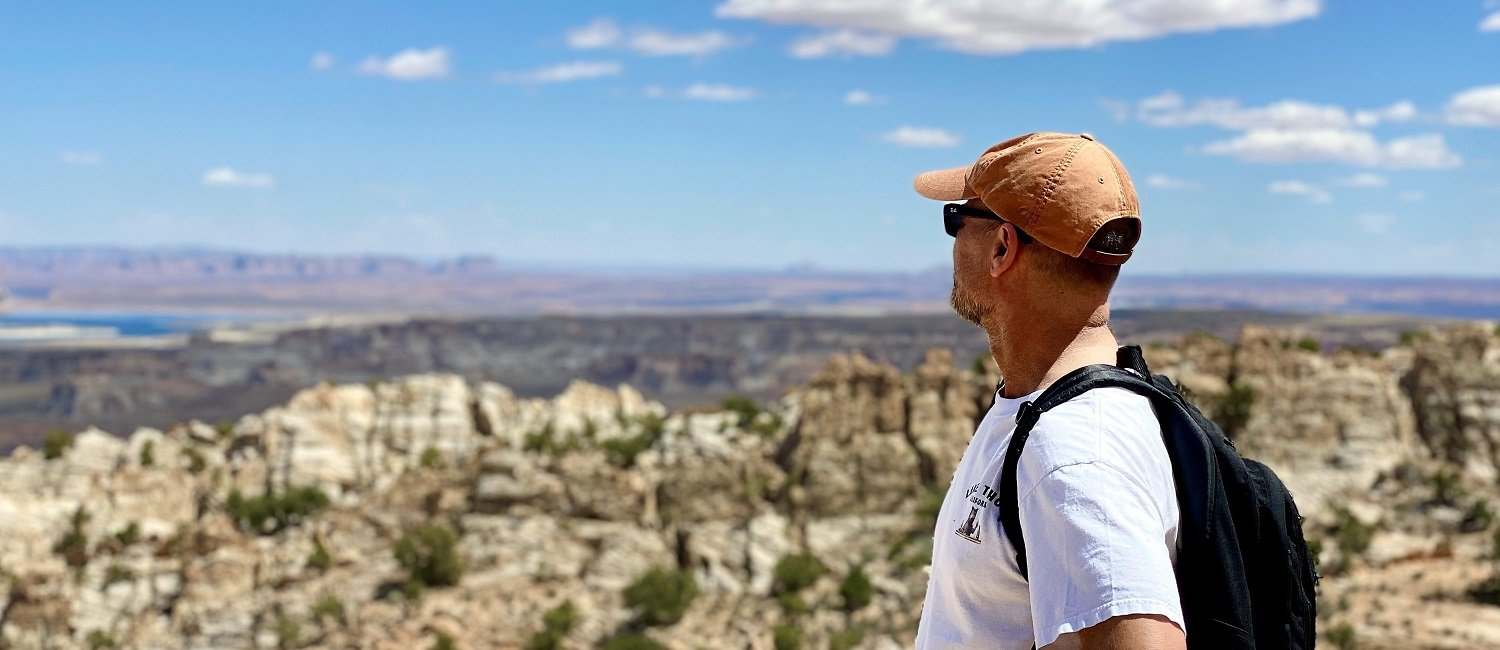 Gay Friendly Bed and Breakfast Host Enjoying Views of Lake Powell