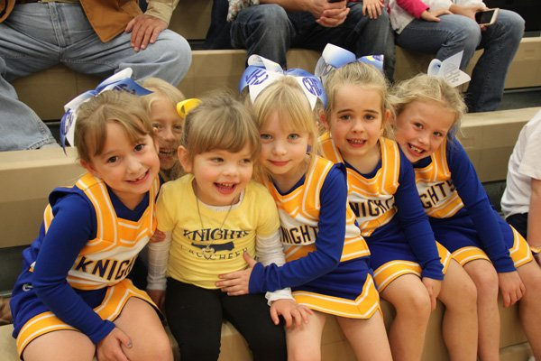 Cheerleaders at Christian Academy at the Cumberlands in Crossville, Tennessee