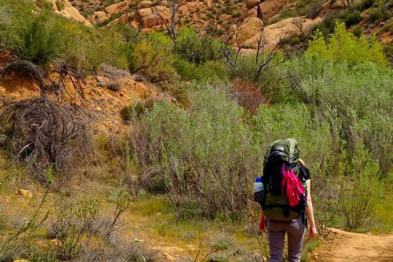 A person hiking