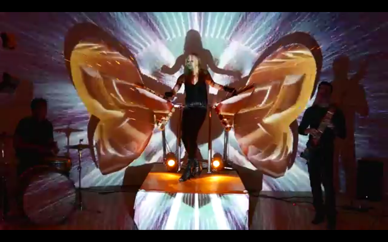 A performer on stage