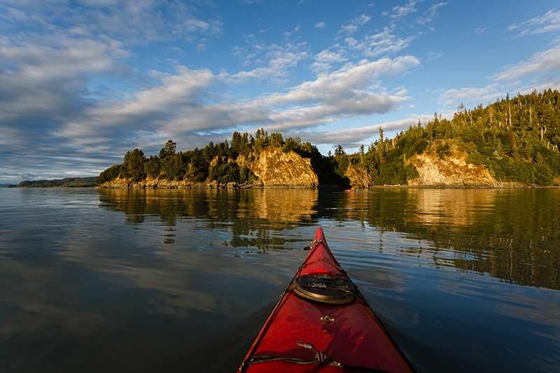 kayaking on the Bay of Fundy