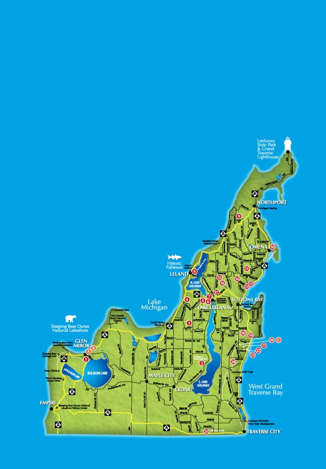 Leelanau Wine Trail map