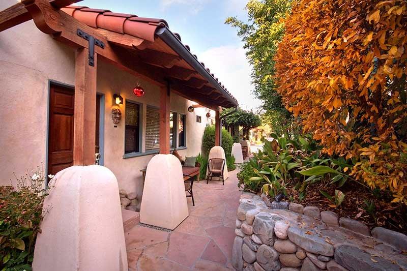Adobe exterior of the inn