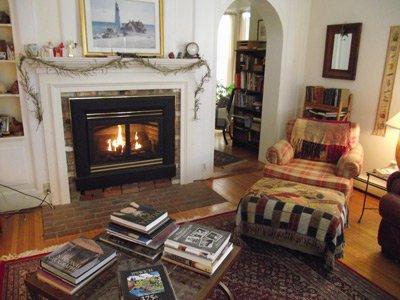 Ipswich Inn living room fire