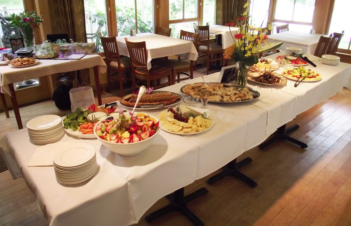 Ipswich Inn Special Occasions Events table food spread