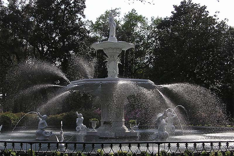 forsyth park greene historic district fountain