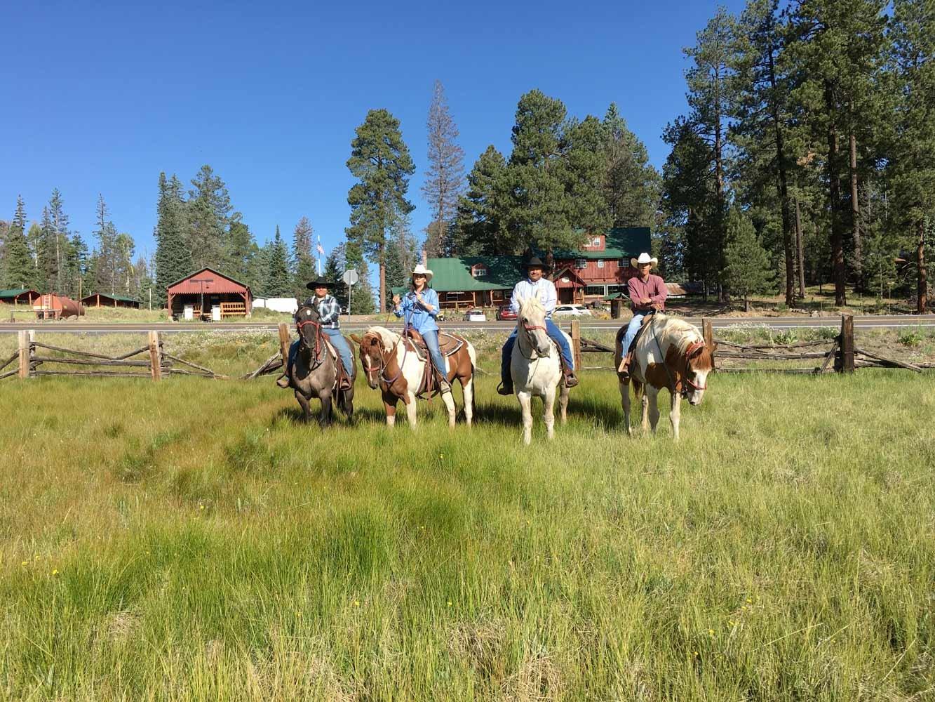 Horseback riding at White Mountains Adventures