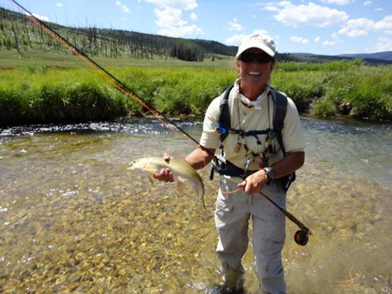 Wendy Kreuger, our fly-fishing guide