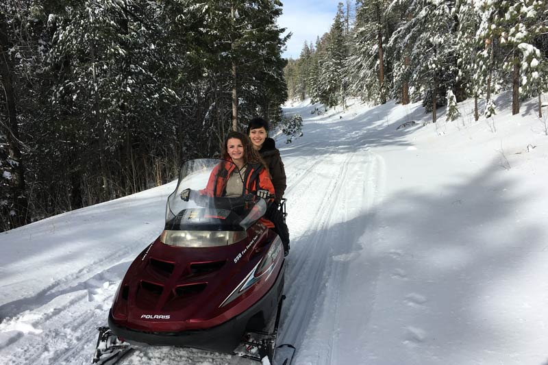 Snowmobiling at White Mountains Adventures