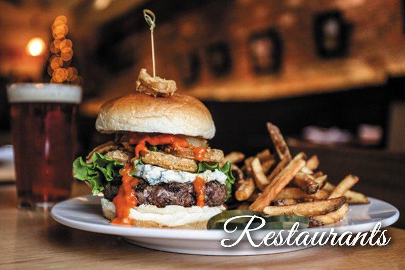 Restaurants Burger and fries