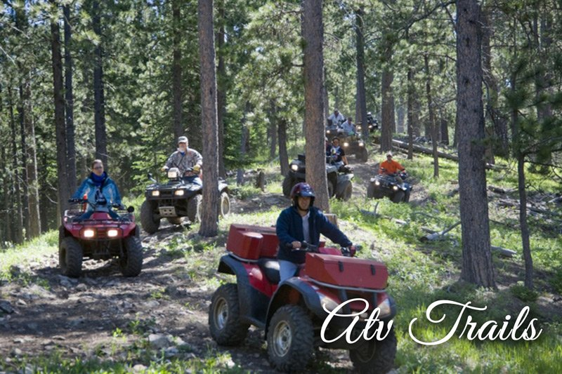 Group ATV trail