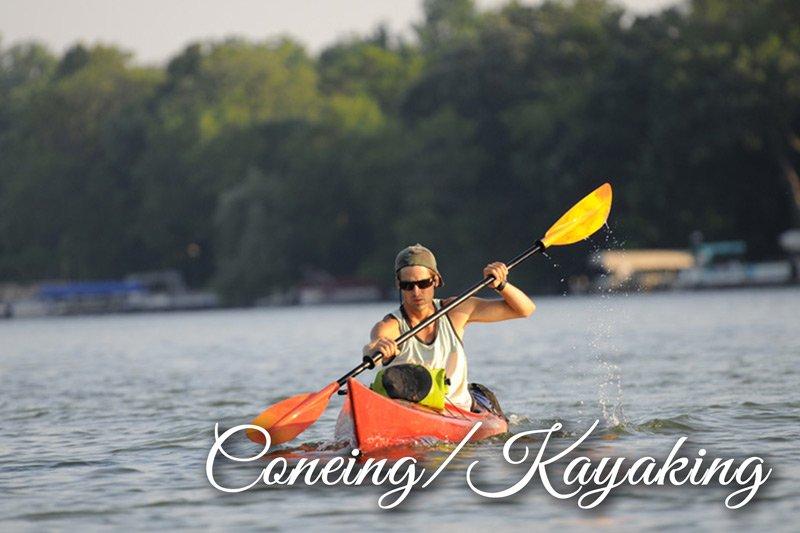 Man canoeing