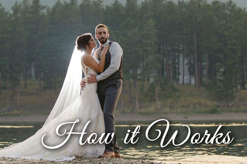 Summer Creek Inn How it Works weddings bride and groom lake