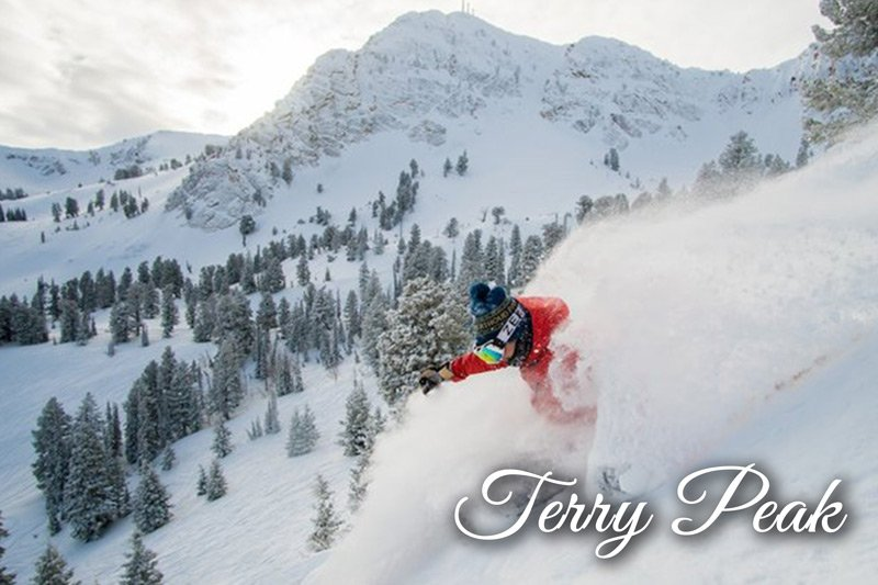 Skiing down Terry Peak