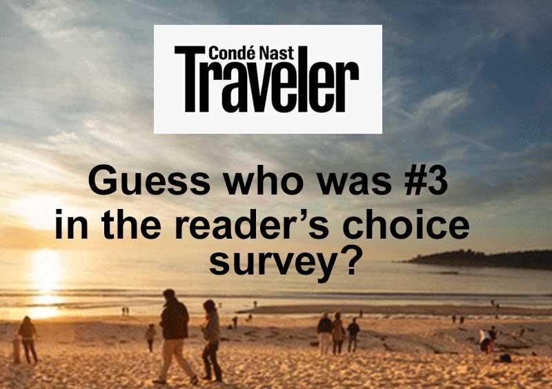 Carmel #3 in Conde Nast Survey