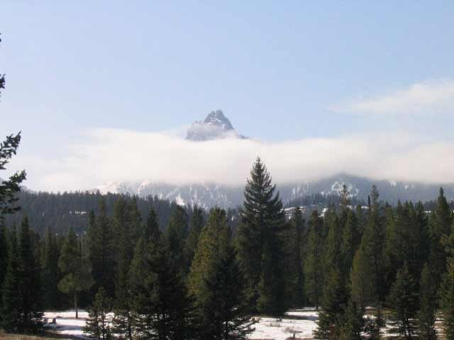 Sugar Loaf Mountain in the clouds