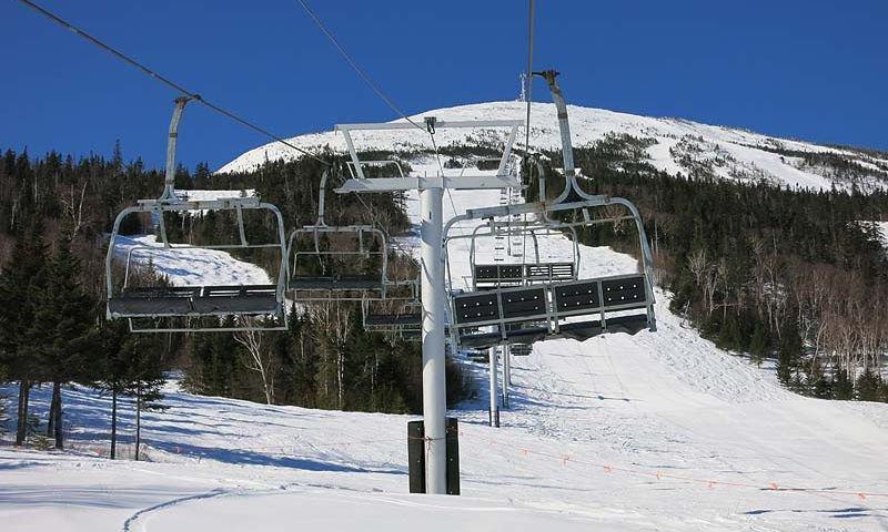 ski chairs at king pine