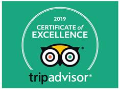 TripAdvisor's Certificate of Exellence Award 2019