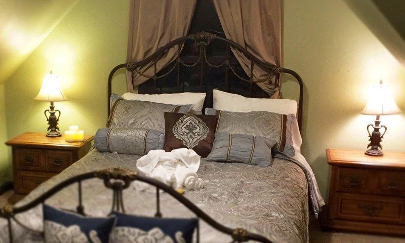 A-Zen Loft Bed with decorative pillows