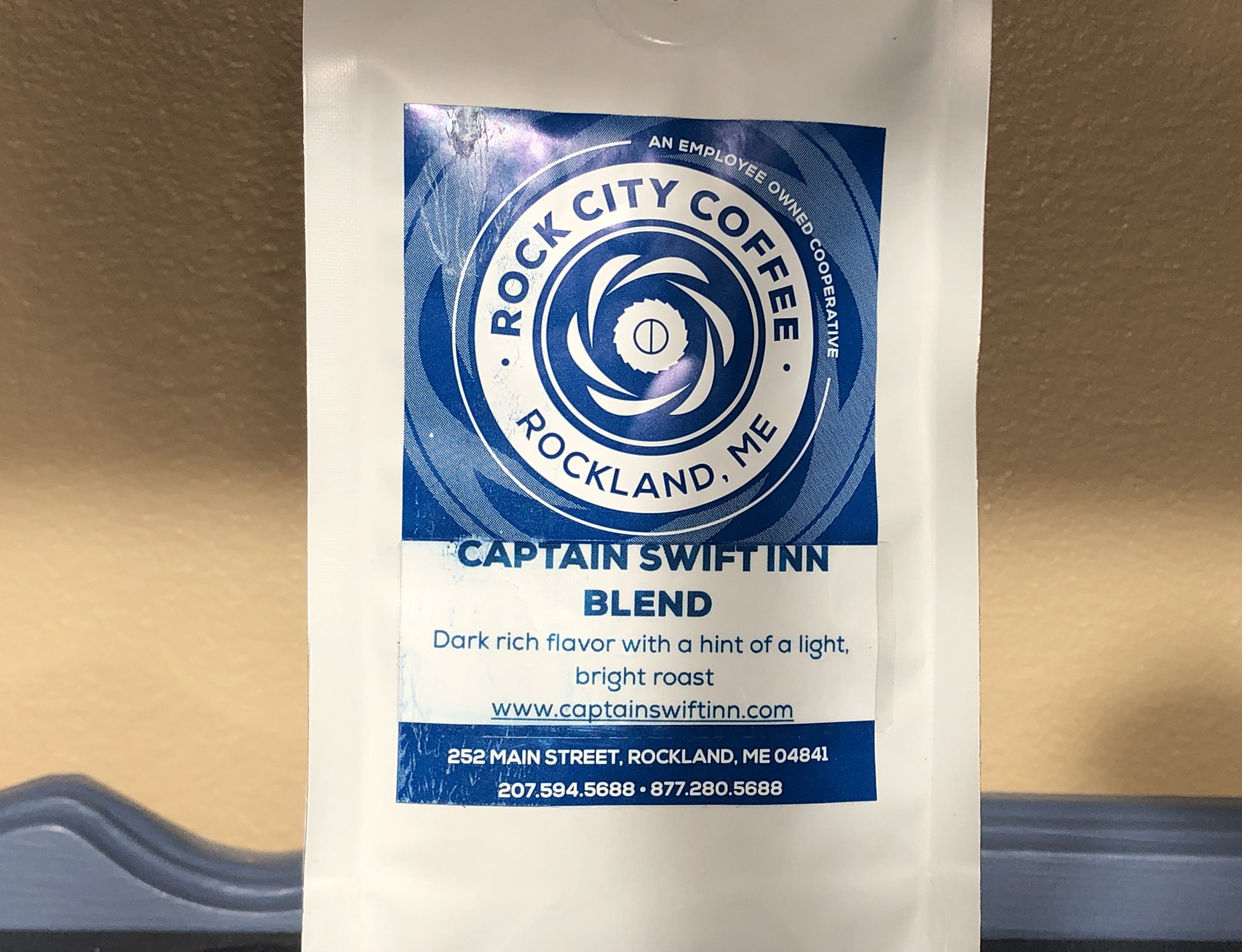 bag of custom coffee