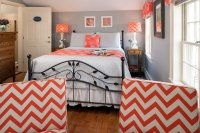 cast iron bed with orange