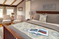 craftsman bed with grey bedspread
