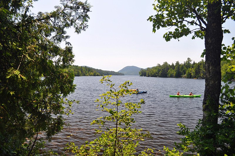 canoes on lake