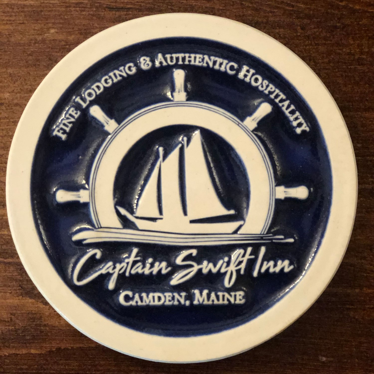 coaster with Captain Swift logo