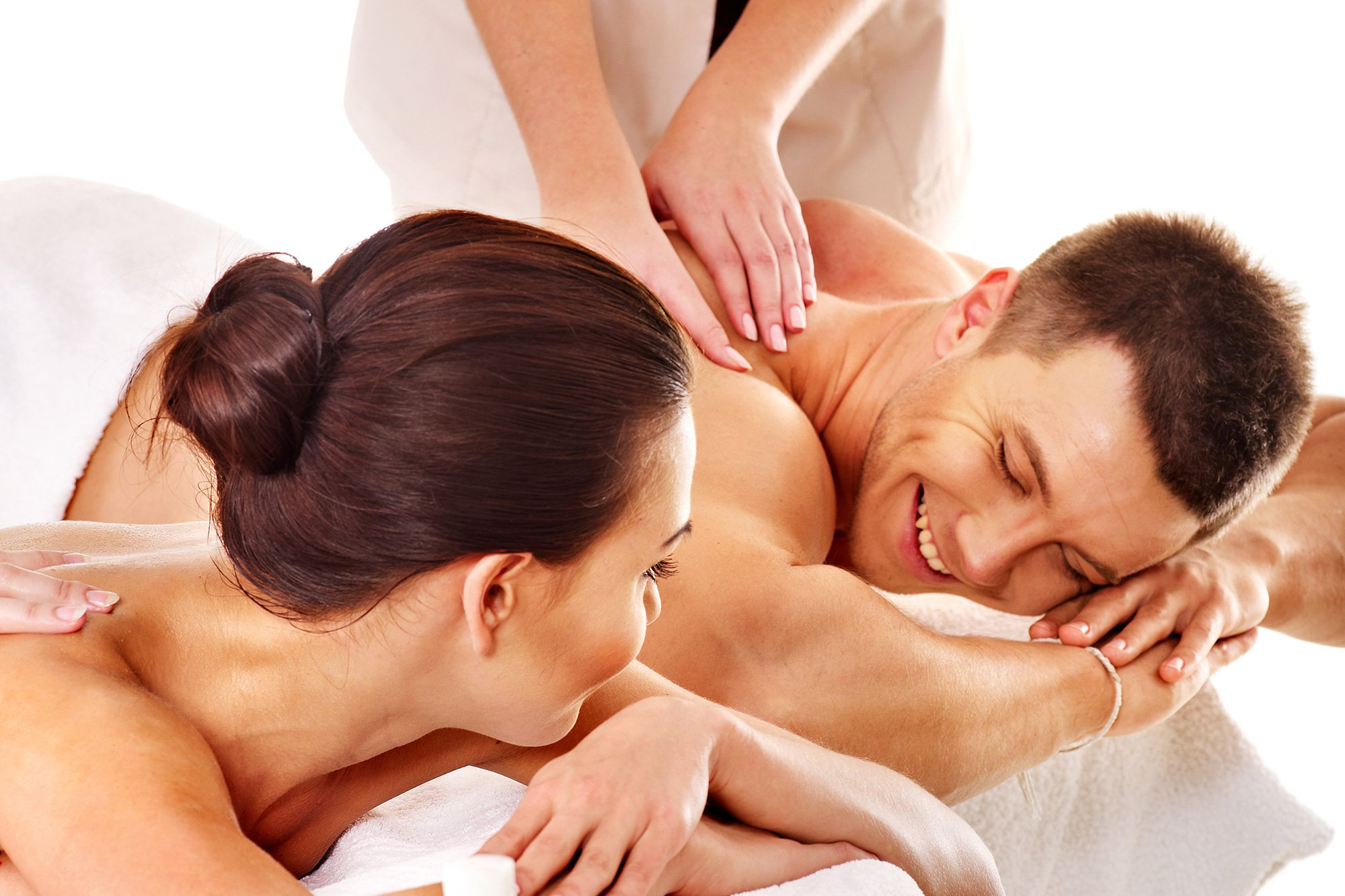 couple getting massage