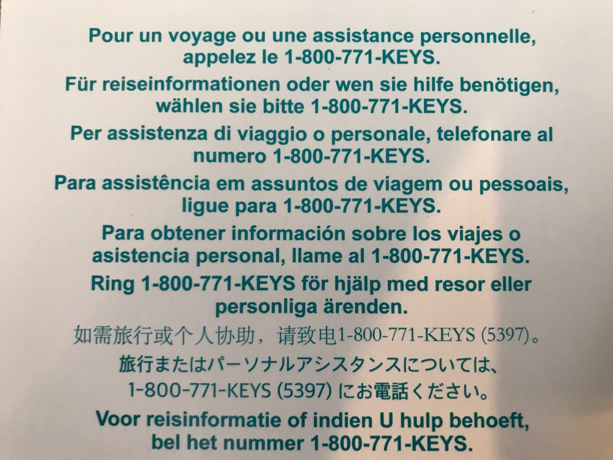 phone support invitation and number in various languages