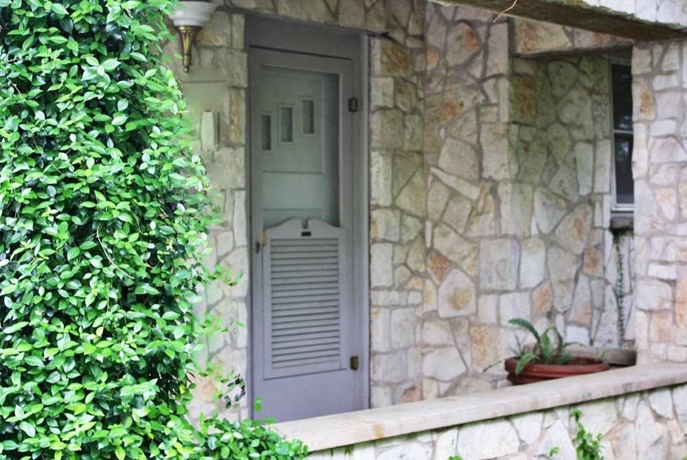 outside stone entrance