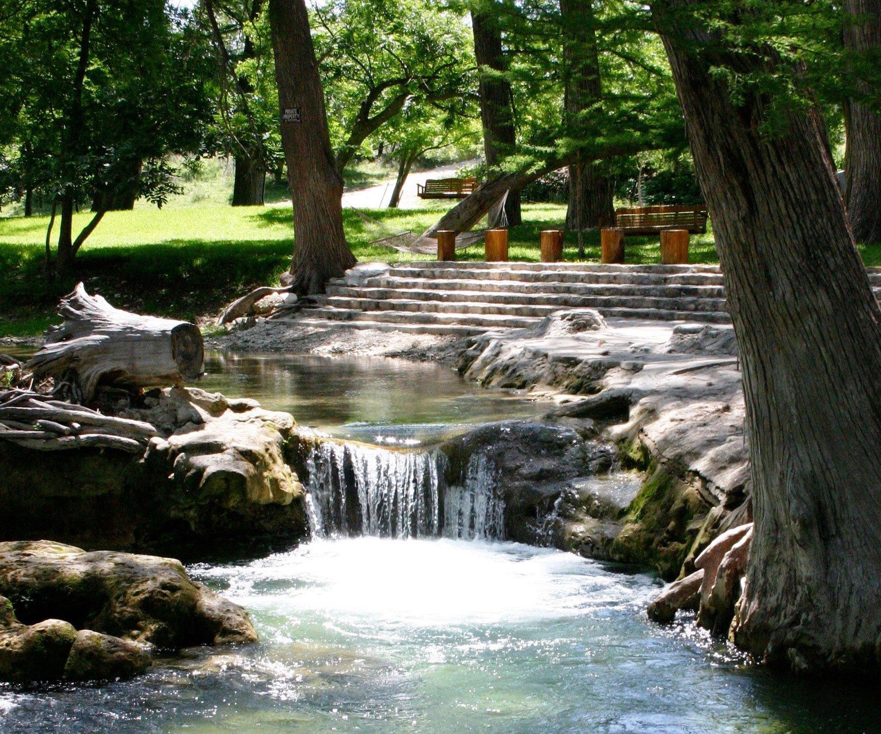 Bandera Lodge Waterfall