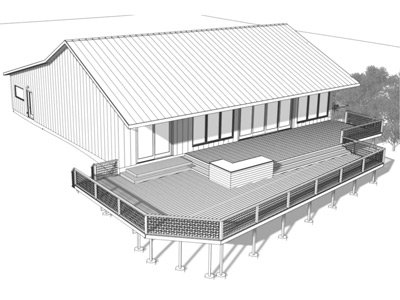 Hillside at Red Rock Event Center Rendering deck view