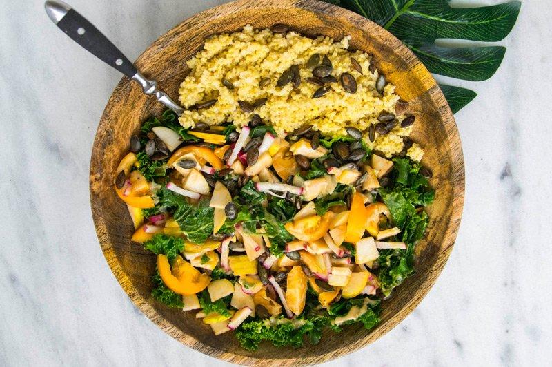 Spouter Inn Maine vegetarian bowl