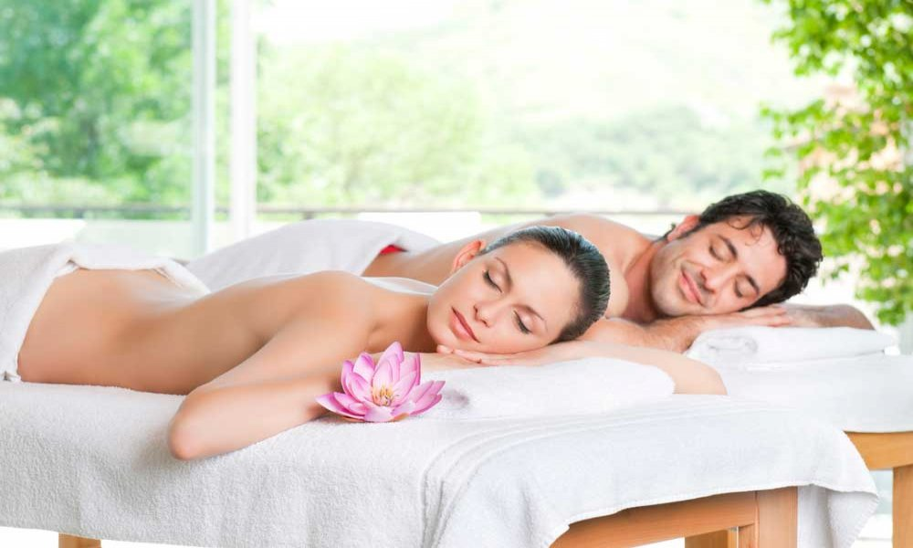 Couple receiving a massage together