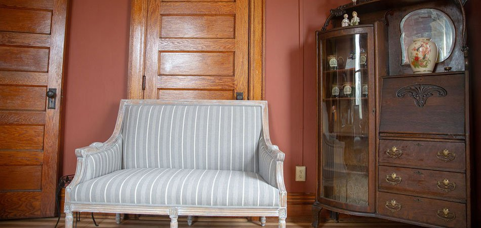 Loveseat and armoire